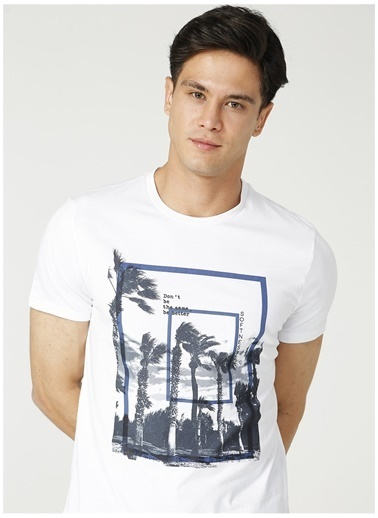 Fabrika Fabrika O Yaka Beyaz T-Shirt Beyaz